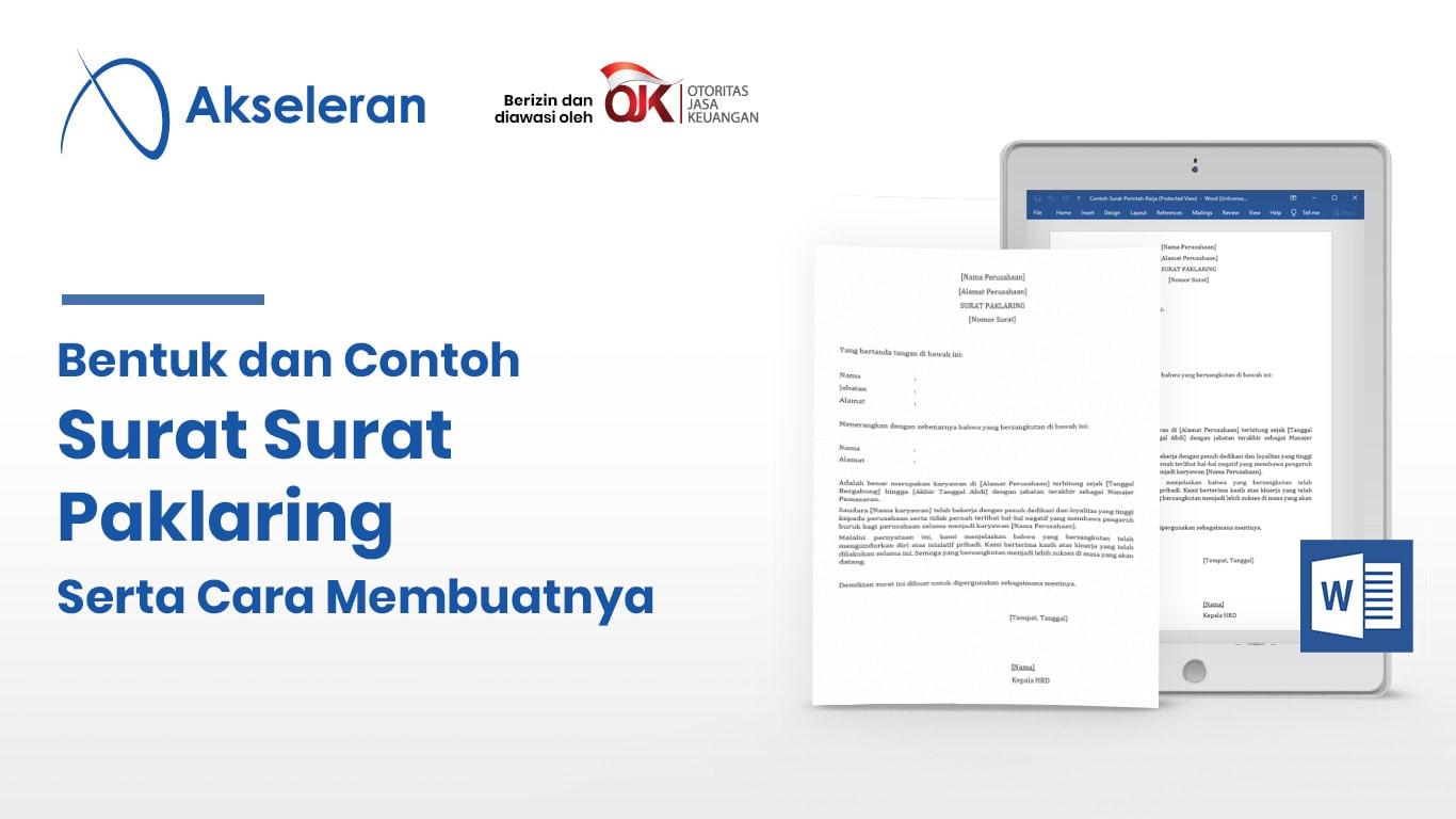Contoh Surat Paklaring yang Baik dan Benar Untuk Karyawan ...