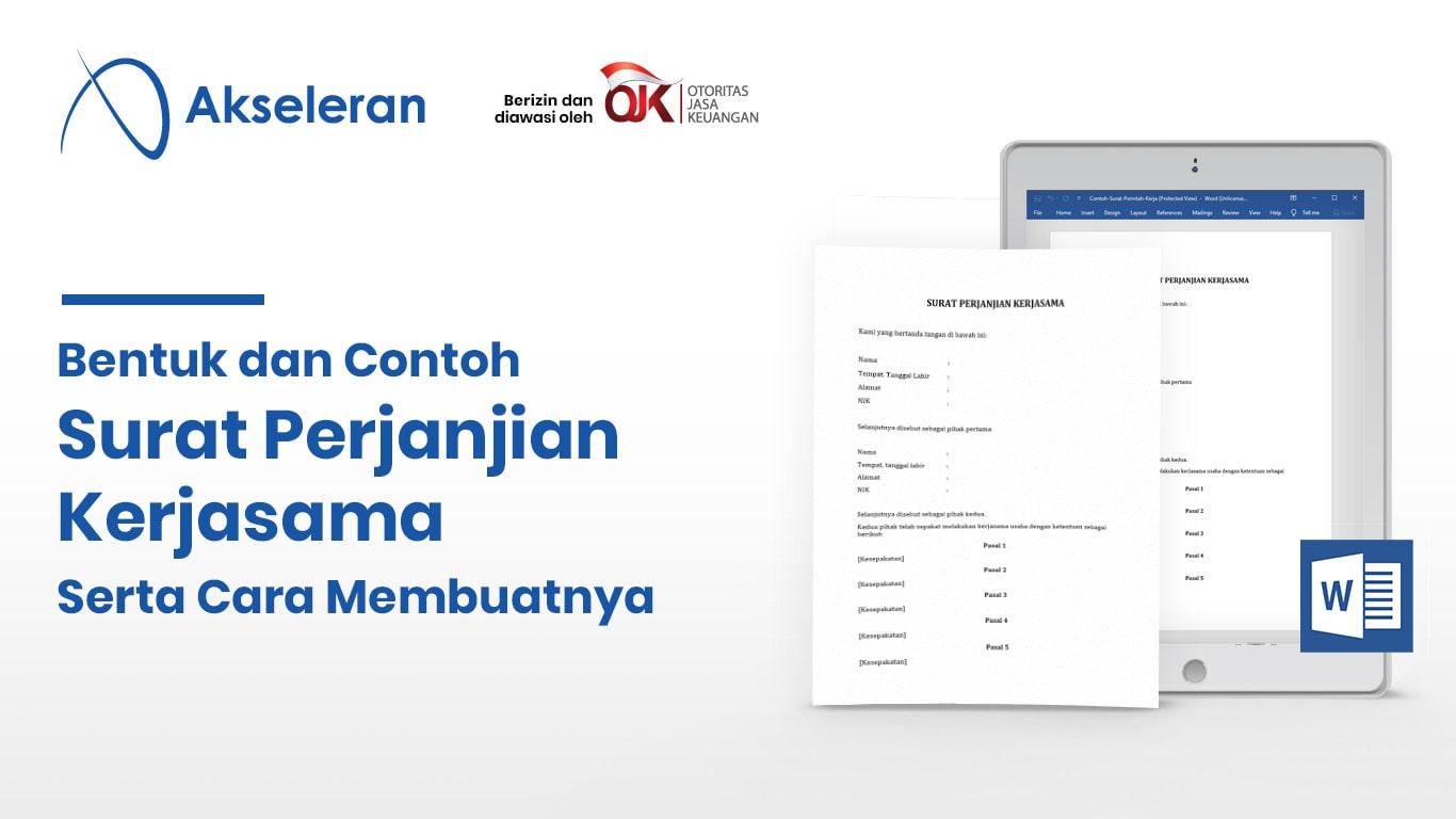 Contoh Surat Perjanjian Kerjasama Yang Baik Dan Benar Akseleran Blog